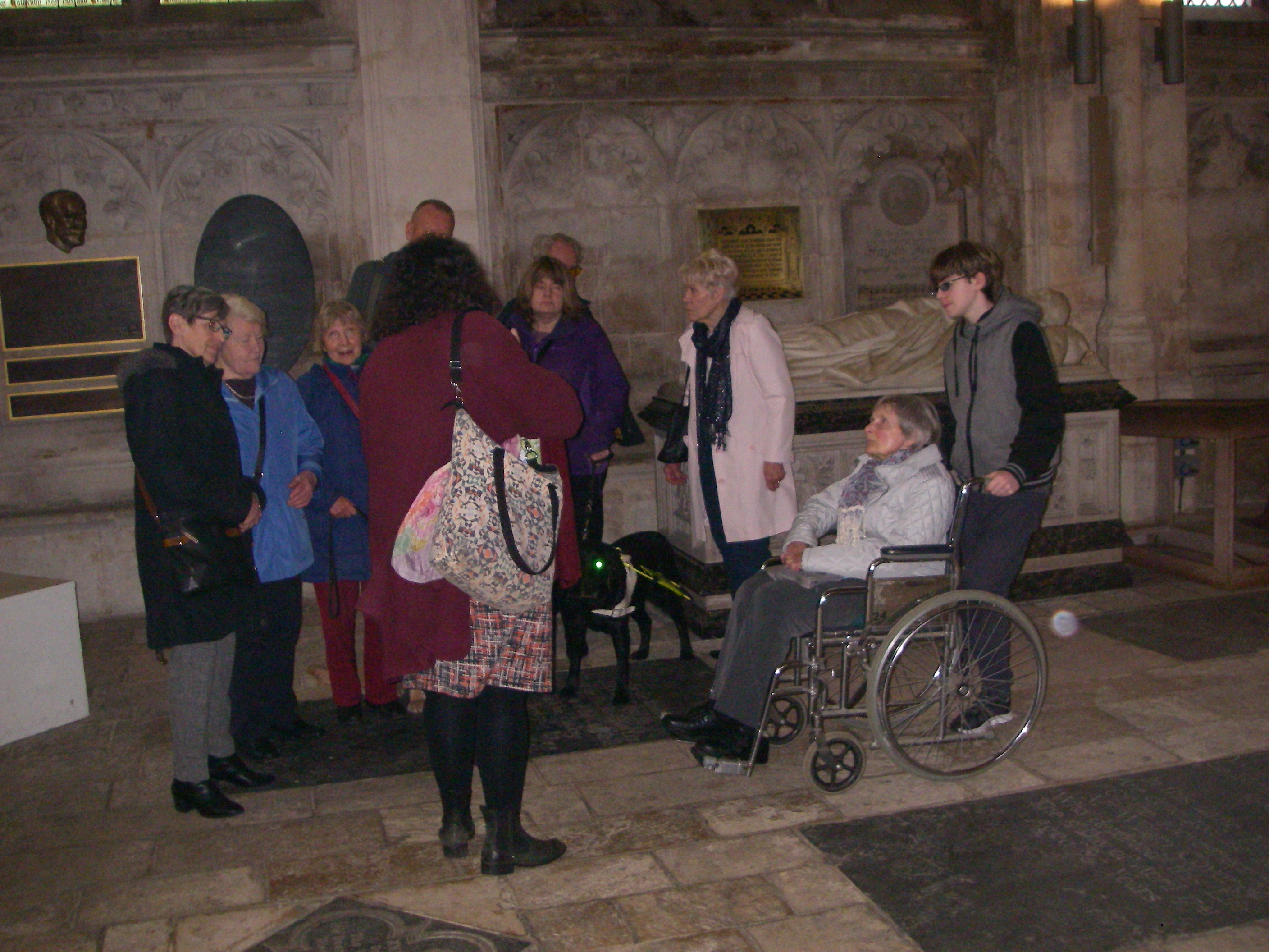 PAB Members and guides talking in the Cathedral
