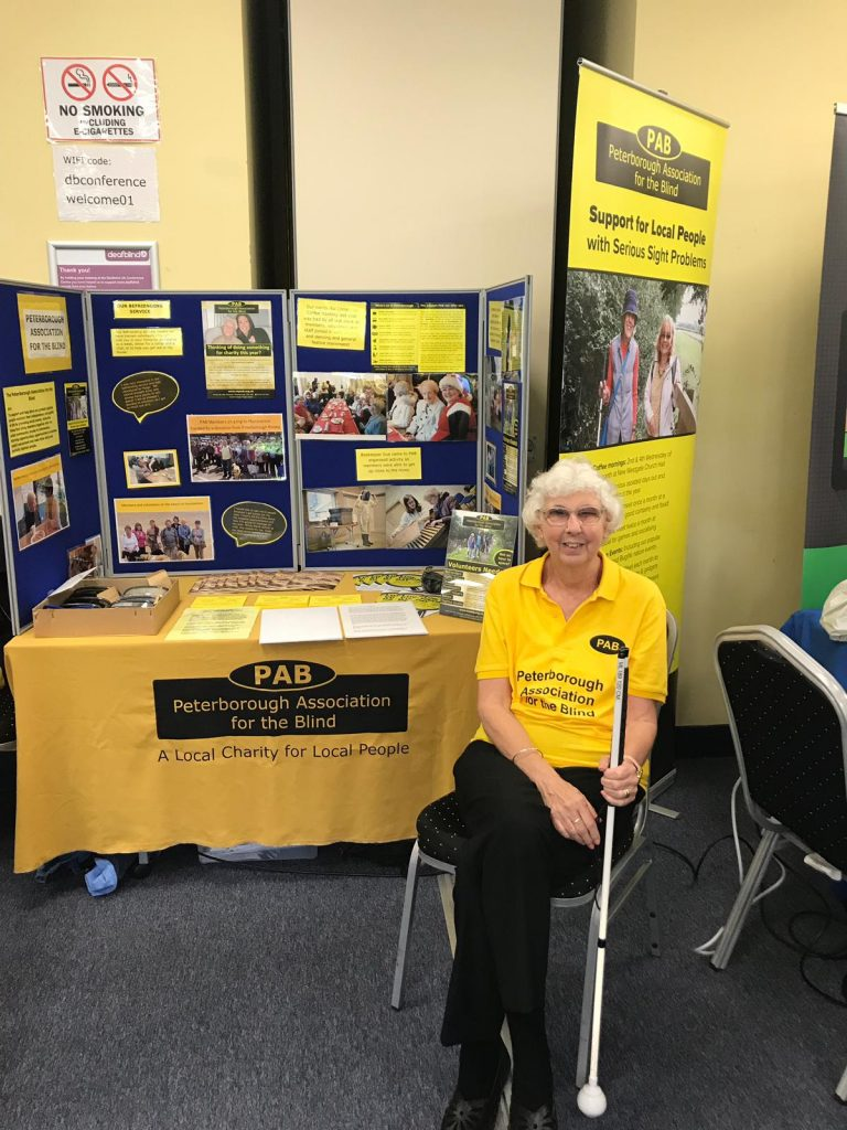 Sylvie Wheeler, Chair of PAB, at the PAB stall